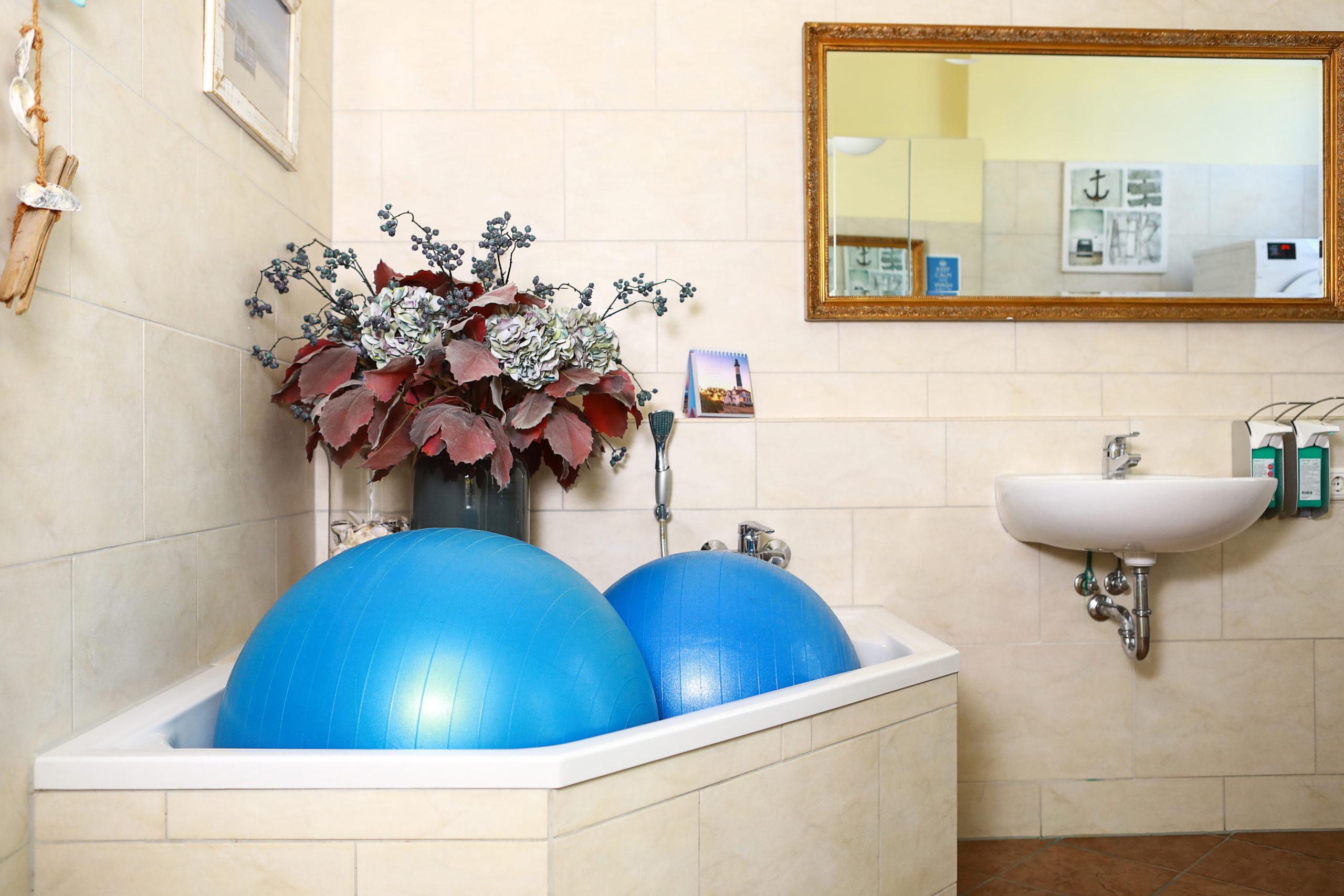 Waschraum in unserer Praxis PhysioBlau